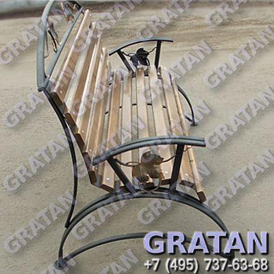 Купить Кованая скамейка ЛЯ недорого
