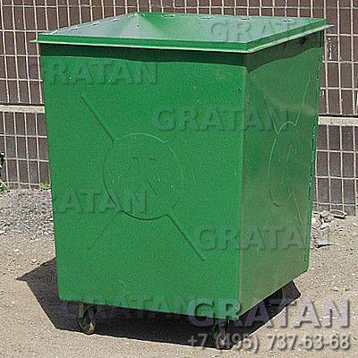 Купить Мусорный контейнер БК-0,75 без крышки УСИЛЕННЫЙ недорого