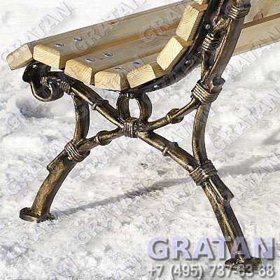 Купить Чугунная скамейка СЧ-4 Европа недорого