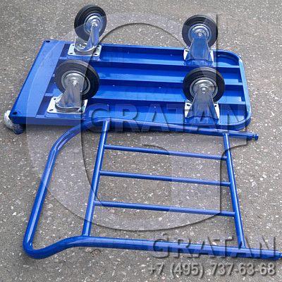 Купить Платформенная тележка 500*800 с колесами недорого