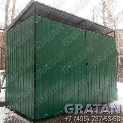 Купить Площадка для мусорных контейнеров профлист 0,5мм недорого