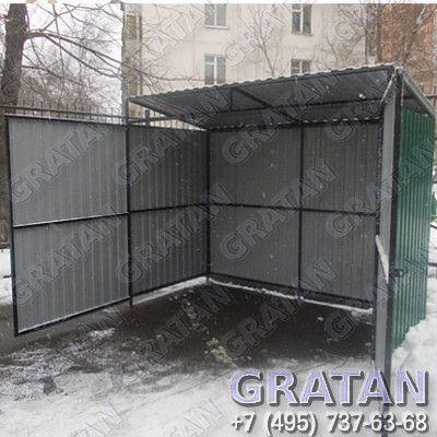 Купить Площадка для мусорных контейнеров недорого