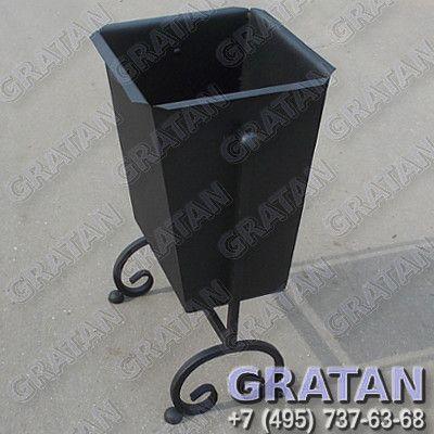 Купить Урна кованая КА 25 Полимерное покрытие недорого